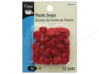 Dritz Snap Plastic Size 20 Heart Red