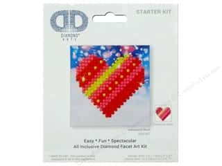 beading & jewelry making supplies: Diamond Dotz Starter Kit - Patchwork Heart