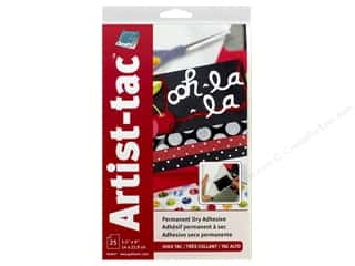 glues, adhesives & tapes: Grafix Double Tack Film Artist-Tac Adhesive 5.5 in. x 9 in. Permanent 25 pc