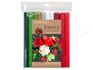 scrapbooking & paper crafts: Werola Lia Griffith Crepe Paper Heavy 10 pc Winter Garden