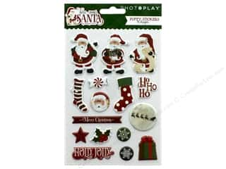 Clearance: Photo Play Collection Here Comes Santa Sticker Puffy