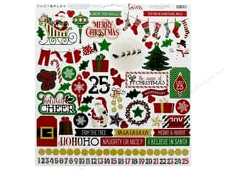 scrapbooking & paper crafts: Photo Play Collection Here Comes Santa Sticker Element 12 in. x 12 in. (12 pieces)