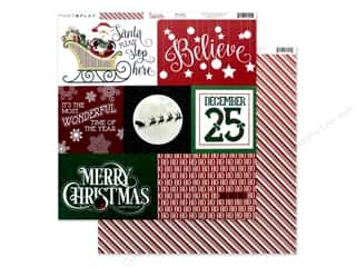 Photo Play 12 x 12 in. Paper Here Comes Santa Believe (25 pieces)
