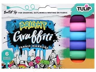 Tulip Fabric Marker Graffiti Bullet Bright 6 pc