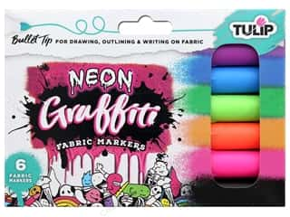 craft & hobbies: Tulip Fabric Marker Graffiti Bullet Neon 6 pc