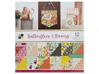 Premium Cardstock: DieCuts With A View Stacks Paper 12 in. x 12 in. Butterflies & Flowers