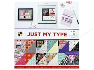 scrapbooking & paper crafts: Die Cuts with a View 12 x 12 in. Paper Stack Just My Type