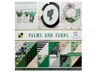 Premium Cardstock: DieCuts With A View Stacks Paper 12 in. x 12 in. Palms and Ferns