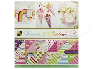 Premium Cardstock: DieCuts With A View Stacks Paper 12 in. x 12 in. Unicorns & Rainbows