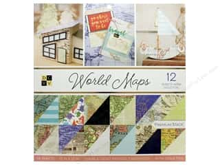 Die Cuts with a View 12 x 12 in. Paper Stack World Maps