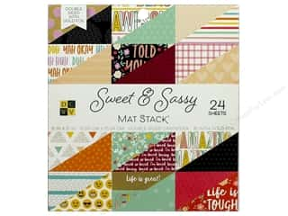 Die Cuts with a View 6 x 6 in. Paper Stack Sweet & Sassy