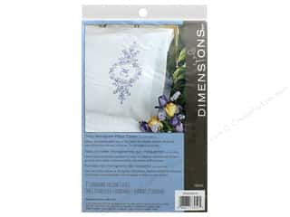 yarn & needlework: Dimensions Embroidery Pillow Case Daisy Monogram 2 pc