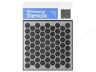 craft & hobbies: PA Essentials Stencil 6 x 6 in. Honeycomb Pattern