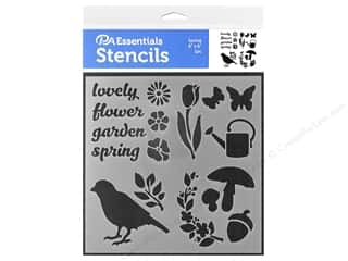 craft & hobbies: PA Essentials Stencil 6 x 6 in. Spring