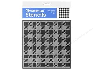 PA Essentials Stencil 6 x 6 in. Plaid Pattern