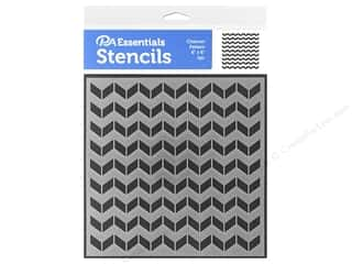 craft & hobbies: PA Essentials Stencil 6 x 6 in. Chevron Pattern