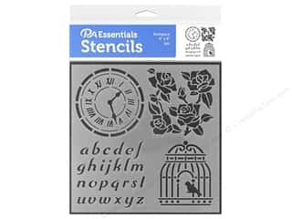craft & hobbies: PA Essentials Stencil 6 x 6 in. Romance