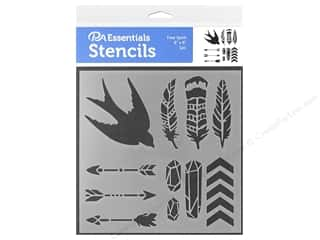 craft & hobbies: PA Essentials Stencil 6 x 6 in. Free Spirit