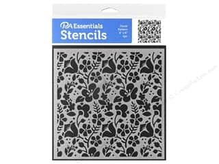 craft & hobbies: PA Essentials Stencil 6 x 6 in. Floral Pattern