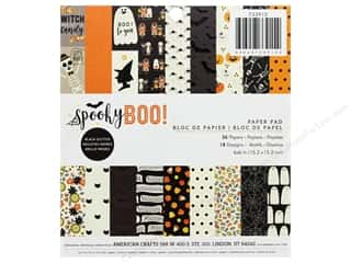Pebbles Spooky Boo Paper Pad 6 in. x 6 in.