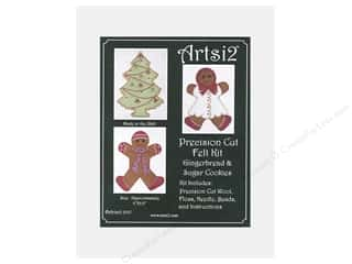 yarn & needlework: Artsi2 Precision Cut Wool Felt Kit Gingerbread & Sugar Cookies