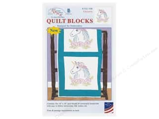 Jack Dempsey Quilt Block 18 in. White Unicorn