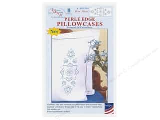 yarn & needlework: Jack Dempsey Pillowcase Perle Edge White Blue Floral