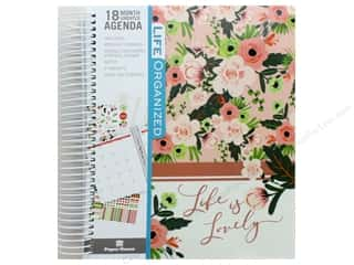 scrapbooking & paper crafts: Paper House Collection Life Organized Planner 18 Month Blush & Greenery