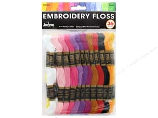 mettler mercerized cotton thread: Janlynn Embroidery Floss Pack 36 pc. Pastel