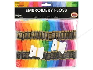 mettler mercerized cotton thread: Janlynn Embroidery Floss Jumbo Pack 105 pc.