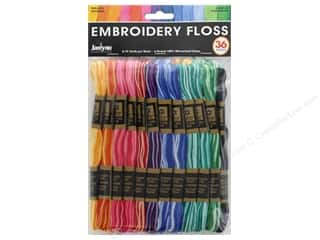 yarn & needlework: Janlynn Embroidery Floss Pack 36 pc. Variegated
