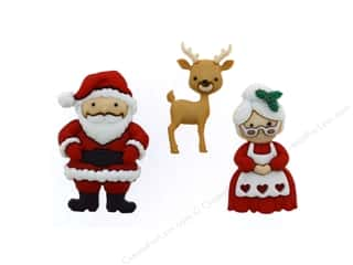 Jesse James Embellishments Mr & Mrs Claus