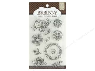stamp: Bo Bunny Stamp Simply Flowers