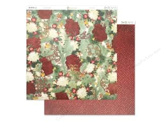 Clearance: Bo Bunny Yuletide Carol Paper 12 in. x 12 in. (25 pieces)