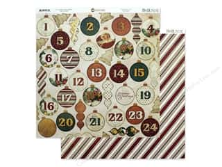 Bo Bunny Yuletide Carol Paper 12 in. x 12 in. Advent (25 pieces)
