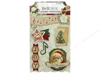 scrapbooking & paper crafts: Bo Bunny Yuletide Carol Chipboard Layered