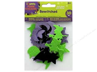 craft & hobbies: Darice Foamies Sticker Foam N Fabric Bewitched