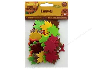 craft & hobbies: Darice Foamies Sticker Glitter Leaves