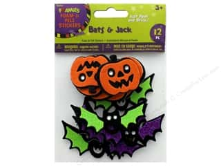 craft & hobbies: Darice Foamies Sticker Foam N Felt Bats & Jack
