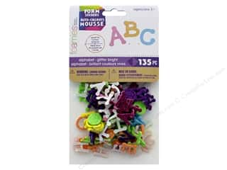 craft & hobbies: Darice Foamies Sticker Alpha Brights Dotty