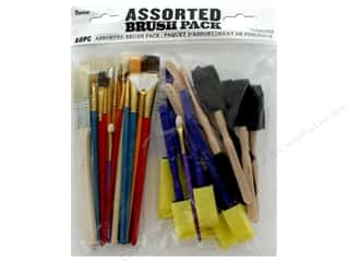 Darice Paint Brush Pack Assorted 40 pc