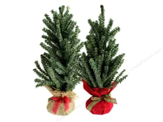Darice Decor Burlap Tree 16 in. Assorted Red/Natural