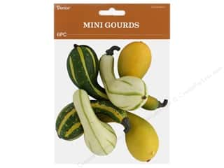 Darice Fall Gourds Mini Green White