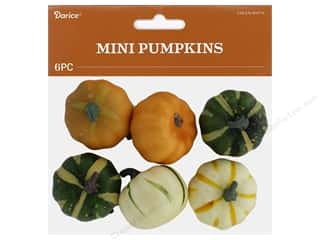 novelties: Darice Fall Pumpkin Mini Green White