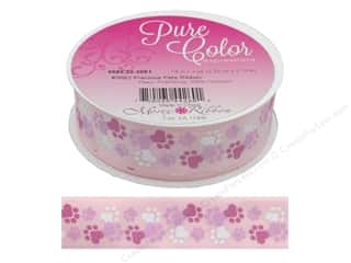 ribbon: Morex Ribbon Precious Pets 7/8 in. x 3 yd Paws Pink/White