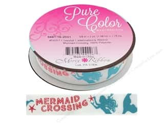 Morex Ribbon Coastal Celebration 5/8 in. x  3 yd Mermaid Crossing