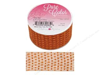 ribbon: Morex Ribbon Wire Victoria 1.5 in. x 3 yd Orange