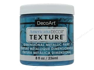 craft & hobbies: DecoArt Americana Decor Texture Metallics Deep Turquoise 8 oz