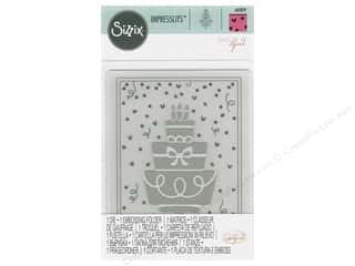embossing machine: Sizzix Impresslits Emboss Folder Katelyn Lizardi Birthday Cake