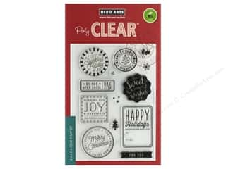 Hero Arts Poly Clear Stamp Holiday Badges